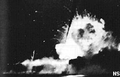 USS Bismarck Sea Explodes