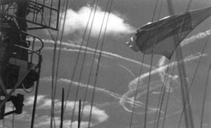 Contrails over Task Force 58