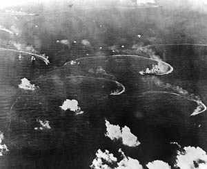 Japanese Fleet Under Attack