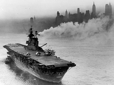 [Enterprise CV-6 Approaches New York City - October 1945]
