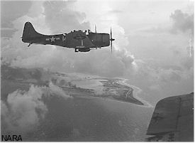 Wake Island from air: 1943